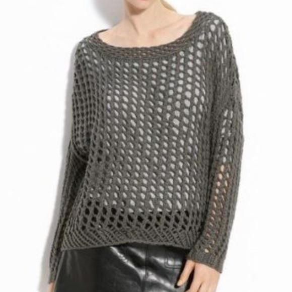 Joie Sweaters Prima Layered Open Knit Sweater Gray Small Poshmark